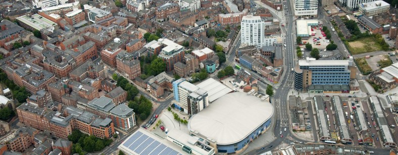 Arial view of NIC and Capital FM Arena (Large)