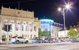 Theatre Royal at night